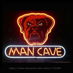 Neon Sign BROWNS DOG DAW MAN CAVE Store Display Neon Light Sign Arcade handcraft Glass Tube Board Publicidad Neon Lamp 13x8
