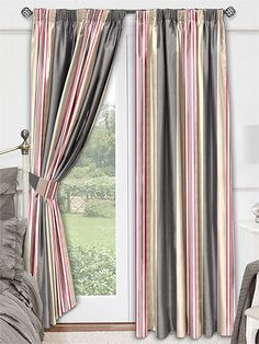 Serendipity Cerise Curtains from Curtains 2go