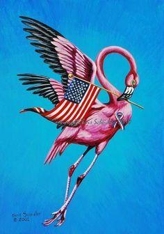 Flamingo+Teaparty+Patriot+by+walnutstreetstudio+on+Etsy,+$30.00
