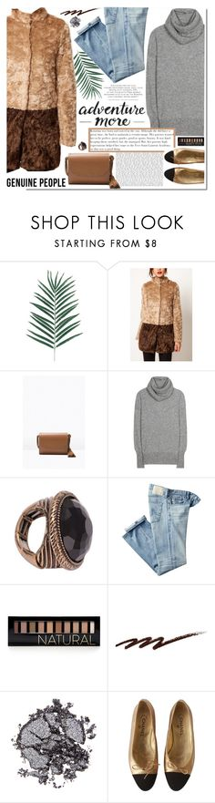 """""""Adventure more"""" by sinsnottragedies ❤ liked on Polyvore featuring The Row, AG Adriano Goldschmied, Forever 21, Stila, Monday, Chanel and Genuine_People"""