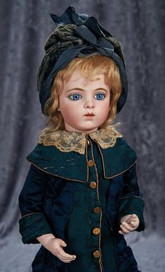 """""""Among Friends, The Billie and Paige Welker Collection"""": 71 Gorgeous French Bisque Bebe by Leon Casimir Bru, with Signed Bru Shoes"""