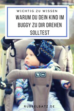 Nicht nur Babys, sondern auch Kleinkinder sollten im Buggy besser mit Blick zur Mutter sitzen. Die dadurch entstehende Kommunikation ist wichtig für die kognitive Entwicklung. Die Bezugsperson nicht sehen zu können bedeutet in manchen Situationen auch für Kleinkinder Stress.
