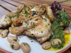 Click for recipe Butter Beans, Lettuce Leaves, Pesto, Catering, Roast, Recipes, Gastronomia, Carne Asada, Recipies