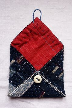pouch/purse/wallet in japanese cottons and antique от lesamovar