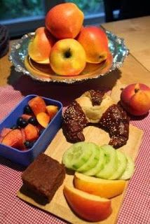 #brownie #lunchbox #blueberries #watermelon