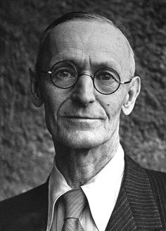 Hermann Hesse (born 2 July, 1877, Germany ~ died 9 Aug, 1962, Switzerland): German-born Swiss poet, novelist, and painter. Best-known works include Steppenwolf, Siddhartha, & The Glass Bead Game, each of which explores an individual's search for authenticity, self-knowledge and spirituality. Education: Evangelical Seminaries of Maulbronn and Blaubeuren ~Via Wikipedia