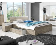 Postel s úložným prostorem BETA dub San Remo : Nejlepsi-nabytek. Oak Bed Frame, Bedroom Furniture, Bedroom Decor, Oak Beds, Getting Out Of Bed, Bed Sizes, Dream Bedroom, Modern Bedroom, Storage Spaces