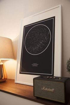 TheNightSky is a Custom Star Map design and printing service.  Maybe for the play room