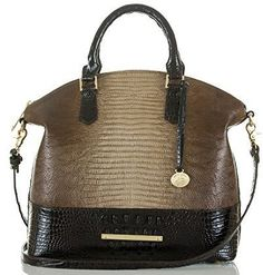 Gorgeous fall bag to go with black or brown boots! Brahmin Large Duxbury Satchel Sable Pennfield