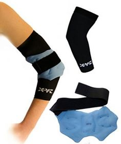 """XYZ Athletic Cold Compression Elbow Therapy is best used for elbow recovery, swelling reduction, pain relief and more. Both items are soft, very comfortable and made to last. ""    #cold #heat #therapy #tennis #elbow #pain #recovery #relief"
