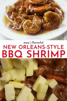How to make New Orleans Style BBQ Shrimp Recipe - Full of buttery, spicy Cajun and Creole seasoning flavors! Transport to the French Quarter in NOLA with this quick and easy Keto-friendly recipe! Perfect with French bread, grits, pasta, and rice! Or put it on bread for a po-boy! Based on the historic Pascal Manale recipe with fresh cracked black pepper, garlic, butter, and N'awlins spiced sauce! #bbqshrimp #shrimprecipes #neworleans #keto #easyrecipe Shrimp New Orleans Recipe, New Orleans Bbq Shrimp, New Orleans Recipes, Best Shrimp Recipes, Fish Recipes, Seafood Recipes, Recipies, Dinner Recipes, Clean Eating Shrimp