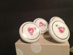 Midcentury vintage handpainted ceramic drawer pulls. by Bedotted