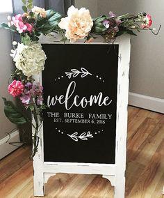 Welcome To Our Wedding Wedding Chalkboard Easel Chalkboard Sign Wedding Sign Bridal Shower Sign Wedding Sign Wedding Decor Aisle Decor