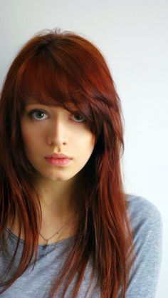 Red brown hair I like the cut too