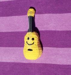 happy crochet ukulele Ukulele, Crochet Music, Some Fun, Fun Projects, Hawaii, Happy, Amigurumi, Ser Feliz, Hawaiian Islands