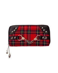 Tartan Red Wallet - Tragic Beautiful buy online from Australia