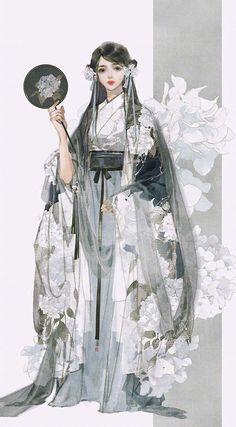 my hanfu favorites Anime Art Girl, Manga Art, Japonese Girl, Chinese Artwork, Chinese Painting, Poses References, Hanfu, Asian Style, Character Illustration
