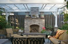 Small Patio Garden is a Good Idea to Feel Relax: Interesting Patio Roof Outdoor Family Room With Furniture ~ workdon.com Exterior Design Inspiration