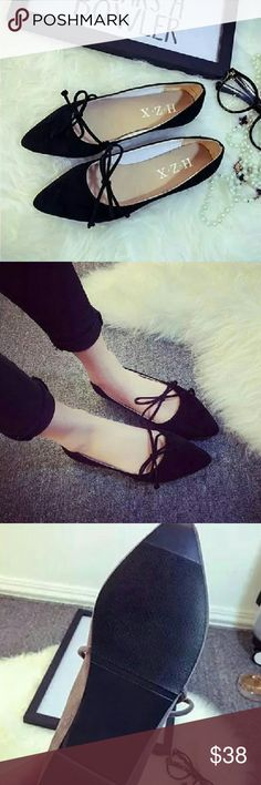 Adorable flats Pointed toe flats with tie at the front Shoes Flats & Loafers
