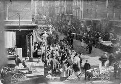Sunday morning at Orchard and Rivington, New York City c. 1915 Photo by Bain News Service