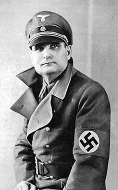 Reichsleiter-Reichsminister ohne Geschäftsbereich (Minister Without Portfolio) Reichsminister der NSDAP und Stab des Stellvertreters des Führers (Party Minister of the NSDAP and Deputy Führer) SS-Obergruppenführer Rudolf Heß