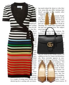 """""""VESTIDO"""" by ebramos ❤ liked on Polyvore featuring Sonia Rykiel, Gucci and Lanvin"""