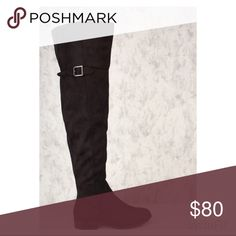 👑Thigh High Flat Boots-BLACK You Can Never Go Wrong With A Pair Of Flat Thigh High Boots 👢! 🎀Features:      🎀Bold Color      🎀Material:Faux Suede       🎀Round Close Toe      🎀Thigh High Ankle Strap w/ High Polish   Buckle      🎀Stitched Detailing      🎀Inner Zipper Closure Followed By A Smooth Finished Touch 👑Measurements:     👑Appx. 1inch Heel     👑23inch Shaft     👑18inch Circumference Shoes Over the Knee Boots