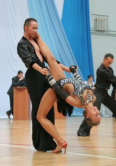 Passionate ballroom dancing photo