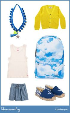 Blue Monday with #LittleLux #PinkChicken #Maan #kidsfashion