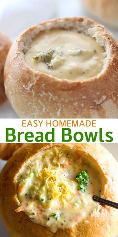 Im so excited to share this step-by-step tutorial for how to make perfect Homemade Bread Bowls right in your own kitchen! These are nothing short of AMAZING with a perfect crusty exterior and soft in the center. Soup Recipes, Dinner Recipes, Cooking Recipes, Panera Bread Bowl, Homemade Bread Bowls, Best Bread Bowl Recipe, Clam Chowder Bread Bowl Recipe, Bread Bowl Recipes, Bread Bowls For Soup