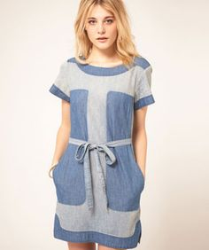 """Denim dresses make an ideal  transition from Summer to Fall. With sandals or cowboy boots.. Over 1/2 Off through Labor Day.. """"Mad, Decent Denim That's Totally Bringing Acid Wash Back"""""""