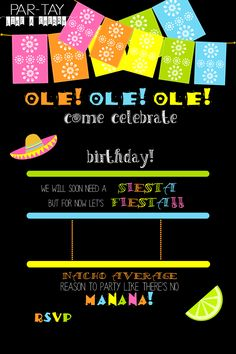 free editable fiesta invitation