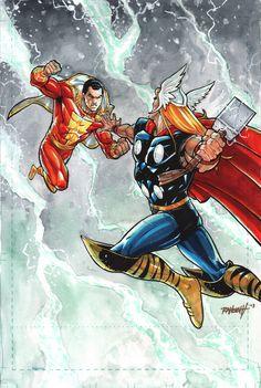 Captain Marvel vs Thor: Lightening Kings