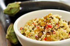 Receita Dedo de Moça: Couscous marroquino com beringela assada