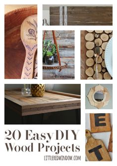 20 Easy DIY Wood Projects | littleredwindow.com