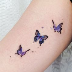 Meaningful Small Tattoo Ideas For Woman In 2020 – Page 6 – Cocopipi Purple Butterfly Tattoo, Unique Butterfly Tattoos, Purple Tattoos, Dainty Tattoos, Butterfly Tattoo Designs, Small Tattoo Designs, Pretty Tattoos, Unique Tattoos, Beautiful Tattoos