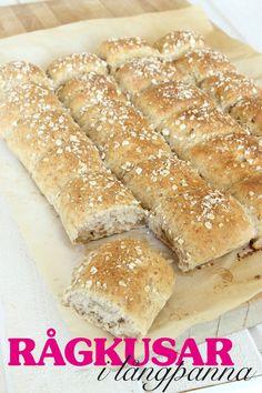 Rågkusar i långpanna Savoury Baking, Bread Baking, Swedish Christmas Food, Bread Bar, Swedish Recipes, Recipes From Heaven, Diy Food, Food Inspiration, Bakery