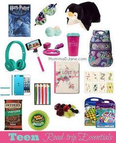 Teen Roadtrip Essentials