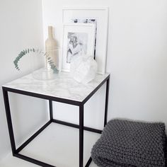 Ikea Hacks: Marble Effect Side Table | For more ideas, click the picture or visit www.thedebrief.co.uk