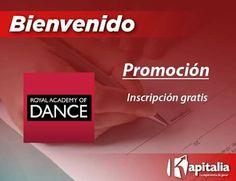 Kapitalia y Royal Academy of Dance se unen para ofrecerte los mejores beneficios y promociones para ti qué eres socio Kapitalia.  A partir de ahora obtén Inscripción GRATIS.  ¡Disfruta de tu beneficio!  Visítanos en Calle Madero #600 Altos Col. Centro.  Coatzacoalcos.  #BienveniadoALaFamiliaKapitalia #KapitalizandoMéxico #SocioPlataforma
