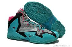 Nike Lebron XI (11) Neo Turquoise/Grey-Pink For Wholesale
