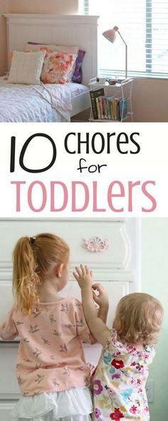 Young children love to help out around the house and these ten simple chores for toddlers will teach them how to work and be responsible from a young age!