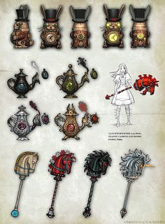 Alice Madness Returns Weapons List - Time to play and decide on which one I want to make. :)