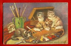 Latvia Lettland Cats Vintage PC| eBay