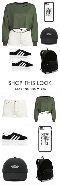 """basic but cool"" by durucorn ❤ liked on Polyvore featuring Yves Saint Laurent, WithChic, adidas, Casetify, Vans and Victoria's Secret"