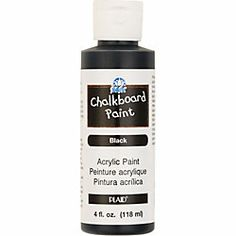 blackboard paint in a small re-sealable supply bottle for my endless little chalkboard paint projects...