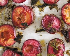 """We're pouring over the pages of Daphne Oz's new cookbook The Happy Cook and happy to find """"accidental"""" recipes like this gem. We're ready to roast plums, pears and anything else we can get our hands on this season..."""