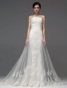 Elegant Strapless Beading Mermaid Wedding Dress For Bride. Get unbelievable discounts up to 60% Off at Milanoo using Coupon & Promo Codes.