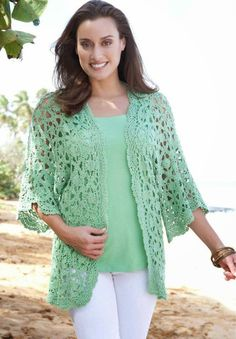 Crochet Patterns to Try: Dream of Summer - Crochet Free Lacy Cardigan Explained Chart Pattern and Instructions