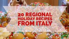 From pasta to desserts, travel Italy via 20 of the best regional holiday recipes. For Christmas or Easter, or for any other festivity. Italian Dishes, Italian Recipes, Holiday Recipes, Great Recipes, Christmas In Italy, Christmas Deco, Best Street Food, Holiday Break